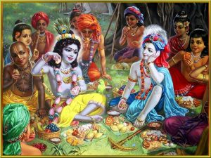 krishna and cowherd boys