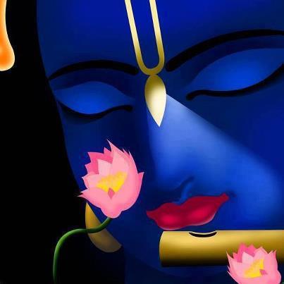 krsna and a lotus_3D