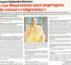 Mauritians are imbued with religious values…